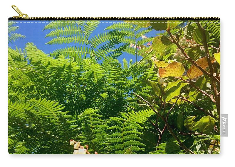 Oregon Carry-all Pouch featuring the photograph Salal Blooms Amongst The Ferns by Dawn Celeste