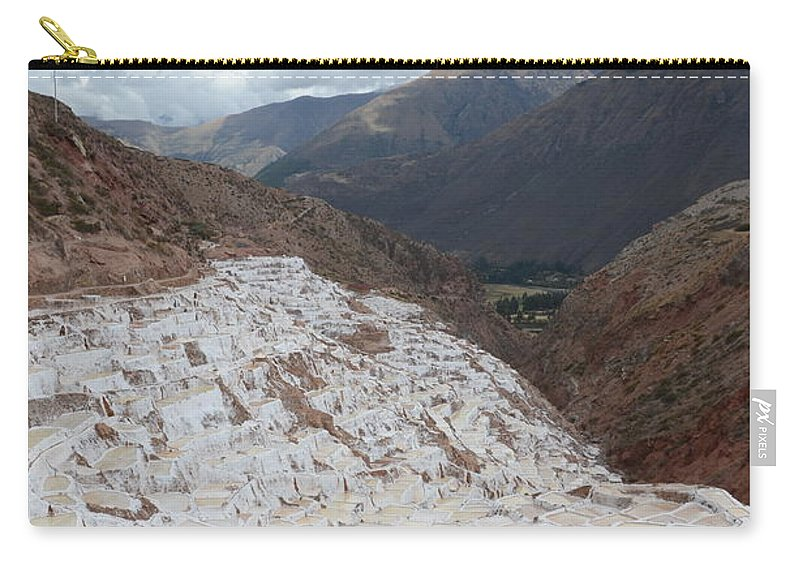 Salt Carry-all Pouch featuring the photograph Salt Ponds Of Peru by Justin Young