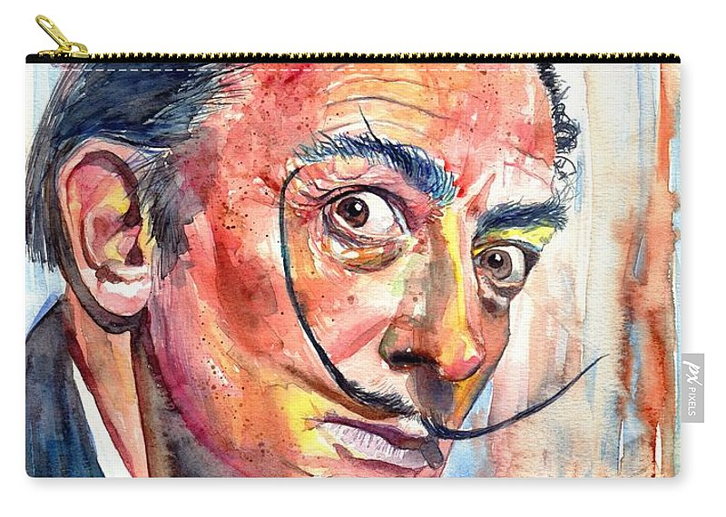Salvador Carry-all Pouch featuring the painting Salvador Dali Portrait by Suzann Sines