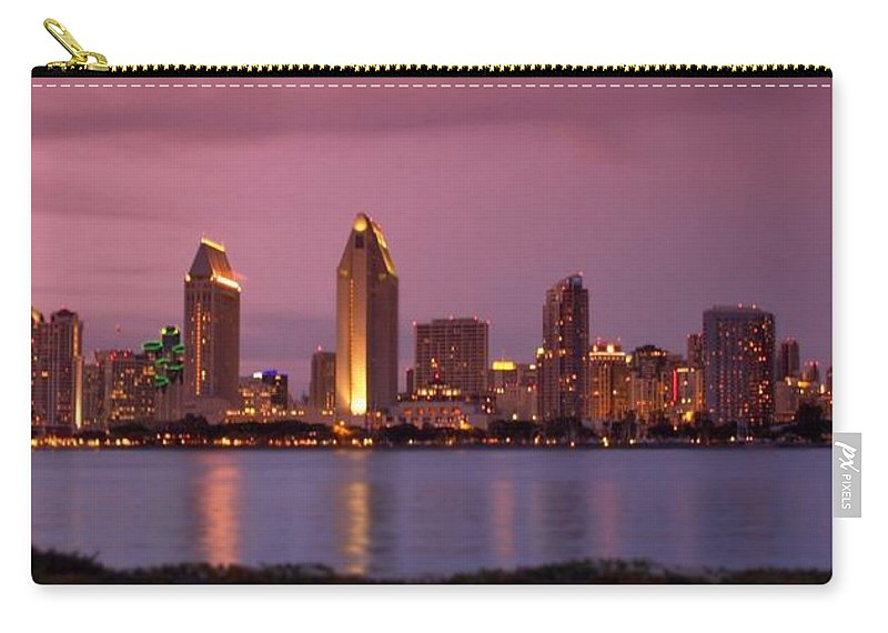 San Diego Carry-all Pouch featuring the photograph San Diego Panorama by DJ Florek