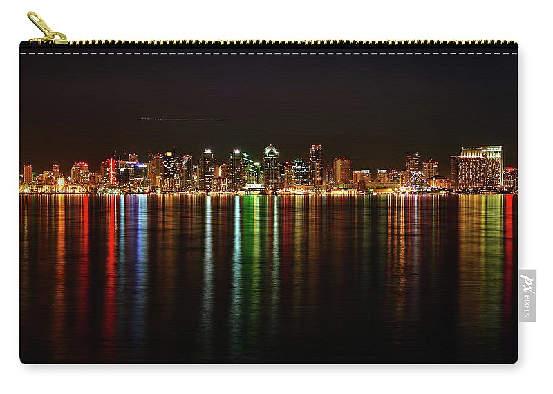 California Carry-all Pouch featuring the photograph San Diego Skyline From Harbor Island by David Toussaint