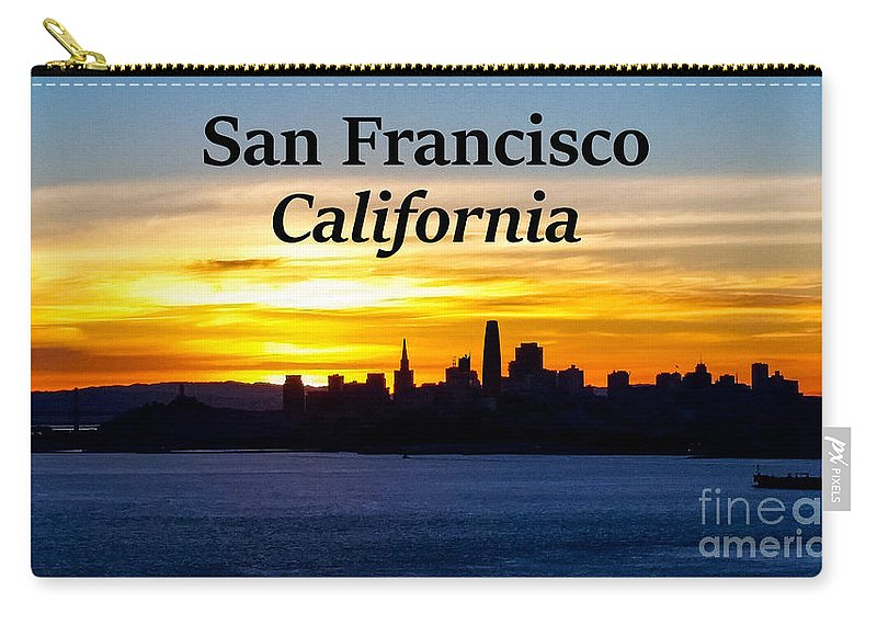 San Francisco Carry-all Pouch featuring the photograph San Francisco Sunrise 16x9 by G Matthew Laughton
