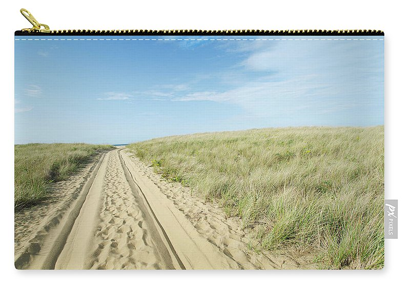 Tranquility Carry-all Pouch featuring the photograph Sandy Beach Road by Nine Ok