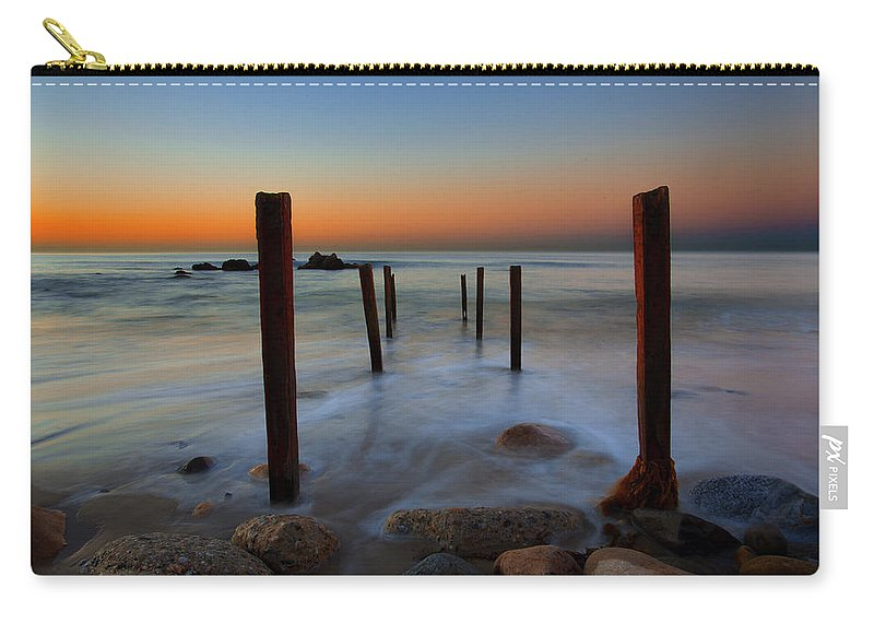 Long Exposure Carry-all Pouch featuring the photograph Santa Monica Sunrise by John Rodrigues