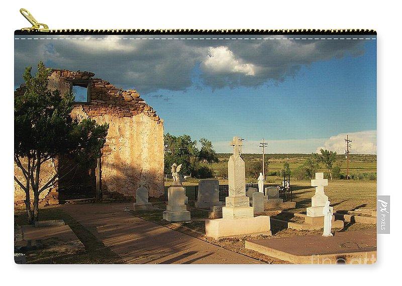 Santa Rosa De Lima Chapel Carry-all Pouch featuring the photograph Saint Rose De Lima Chapel by Suzanne Wilkinson