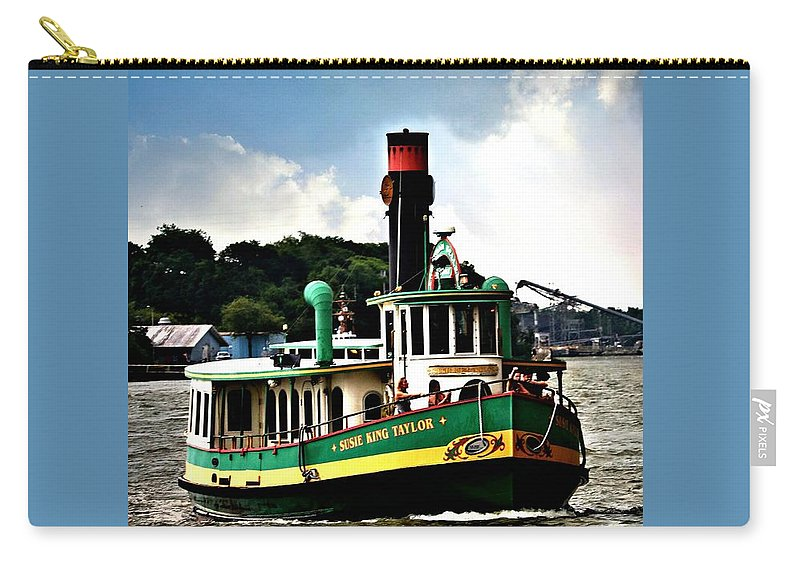 Ferry Carry-all Pouch featuring the photograph Savannah Belles Ferry by Diann Fisher