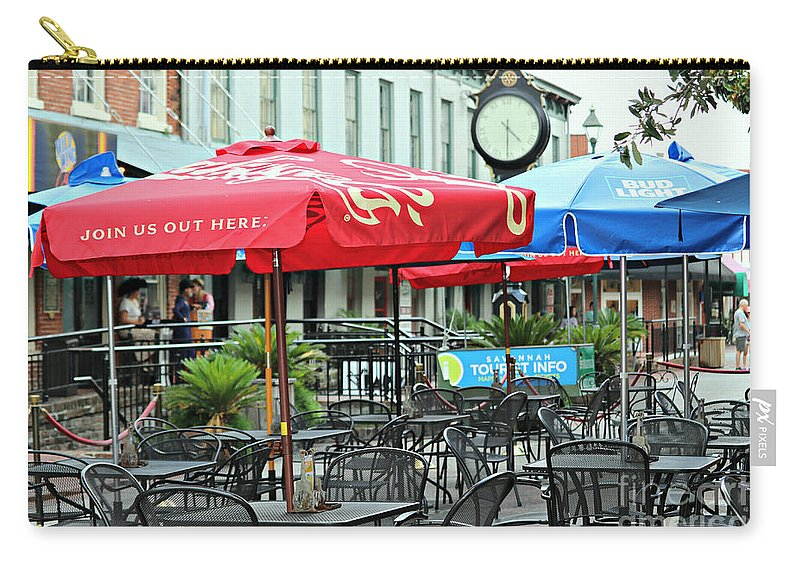 Savannah Carry-all Pouch featuring the photograph Savannah Join Us Out Here by Diann Fisher