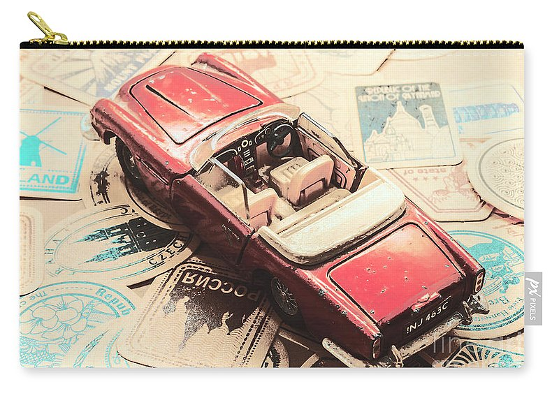 Automobile Carry-all Pouch featuring the photograph Scaled Nostalgia by Jorgo Photography - Wall Art Gallery