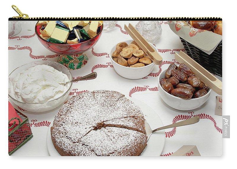 Homemade Carry-all Pouch featuring the photograph Scandinavian Dessert Smorgasbord by Steve Skjold