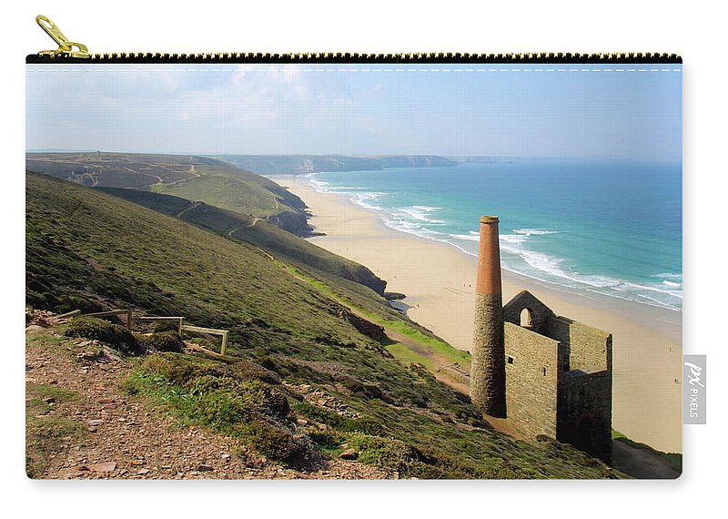 Water's Edge Carry-all Pouch featuring the photograph Scenic Cornwall - St Agnes Head by Chrisat