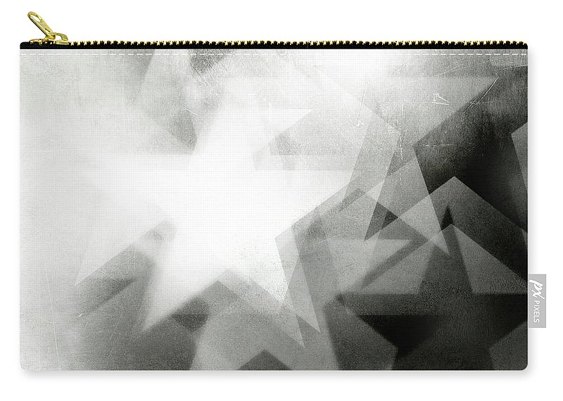 Art Carry-all Pouch featuring the photograph Scratchy Star Background by Loudredcreative