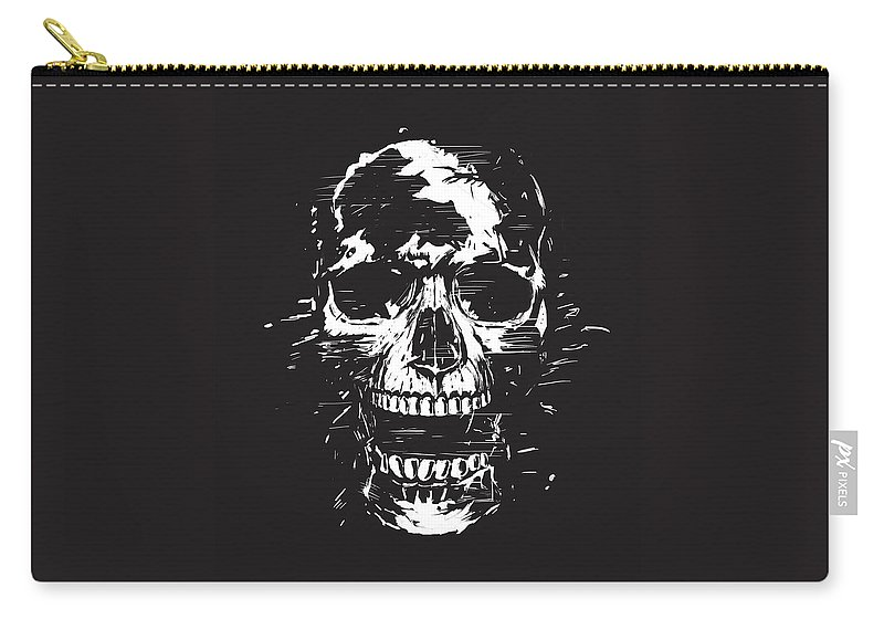 Skull Carry-all Pouch featuring the mixed media Scream II by Balazs Solti