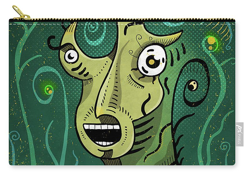 Shaman Carry-all Pouch featuring the digital art Scream by Sotuland Art