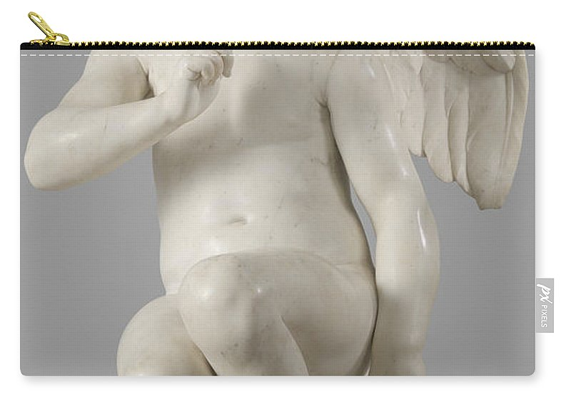 Seated Cupid Carry-all Pouch featuring the sculpture Seated Cupid, 1757 Marble by Etienne-Maurice Falconet
