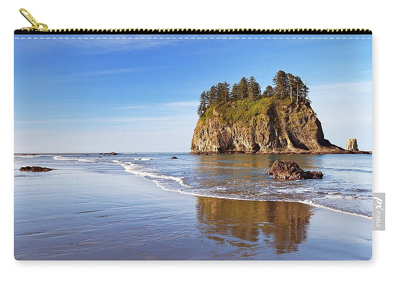 Scenics Carry-all Pouch featuring the photograph Second Beach On The Olympic Peninsula by Sara winter