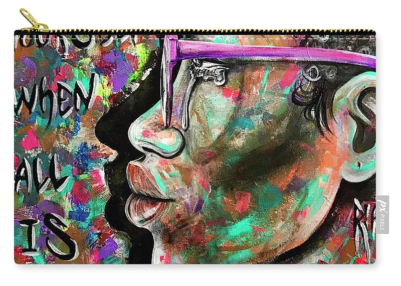 Depressed Carry-all Pouch featuring the painting See yourself when all is new by Artist RiA