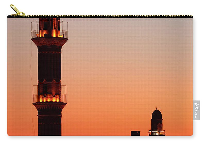 Built Structure Carry-all Pouch featuring the photograph Sehidiye Mosque Minaret by Wu Swee Ong
