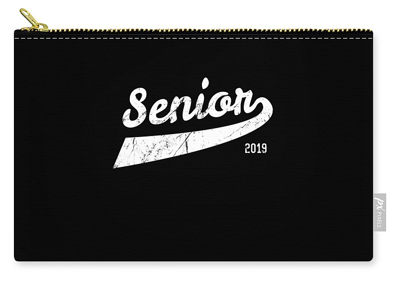 Cool Carry-all Pouch featuring the digital art Senior Class Of 2019 by Flippin Sweet Gear