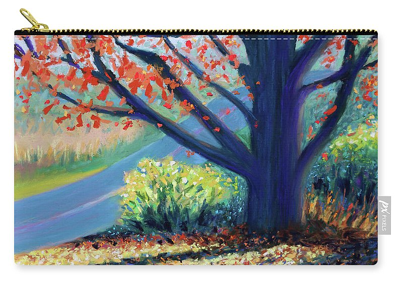 Carry-all Pouch featuring the painting Sentinel By The Road by Polly Castor