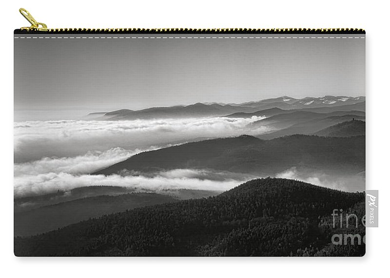 Alsace Carry-all Pouch featuring the photograph Serene Alsace Mountains by Olivier Le Queinec