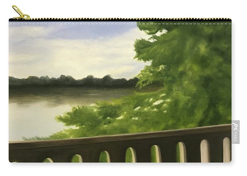 Bridge Carry-all Pouch featuring the painting Serenirty by Sheila Mashaw