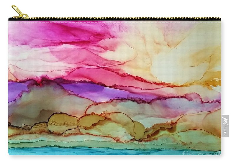Alcohol Ink Carry-all Pouch featuring the painting Serenity by Beth Kluth