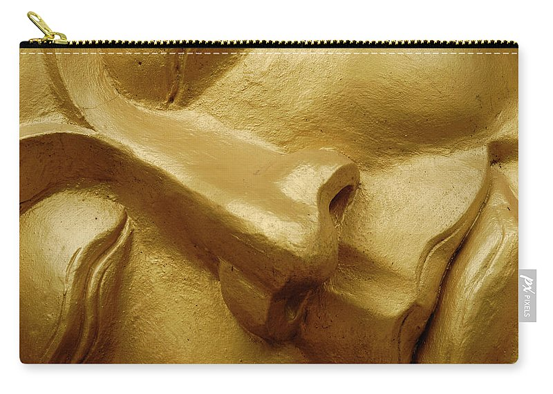 Chinese Culture Carry-all Pouch featuring the photograph Serenity In Buddha by T-immagini