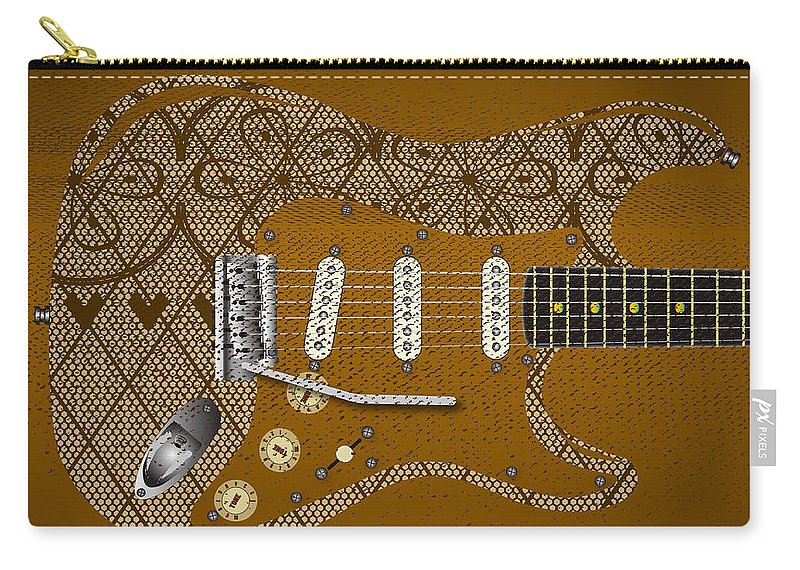 Guitar Carry-all Pouch featuring the digital art Sexy Music by Bigalbaloo Stock