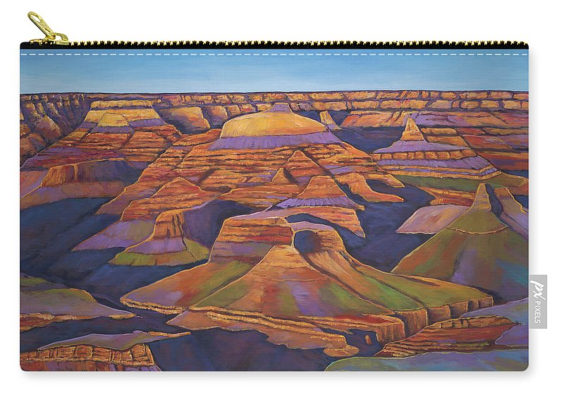 Grand Canyon Carry-all Pouch featuring the painting Shadows and Breezes by Johnathan Harris