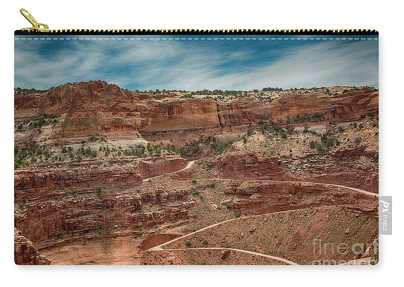 Shafer Trail Carry-all Pouch featuring the photograph Shafer Trail. #2 by Minnetta Heidbrink