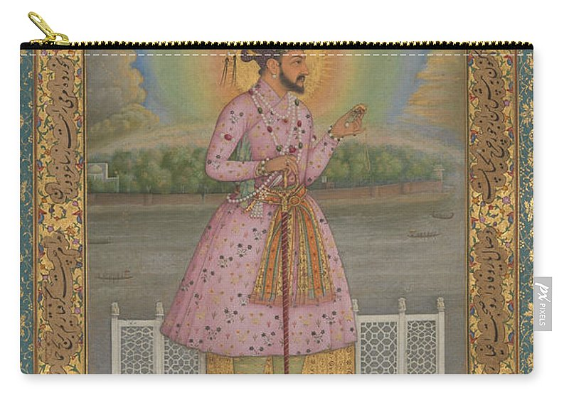 Indian Carry-all Pouch featuring the painting Shah Jahan On A Terrace by Chitarman