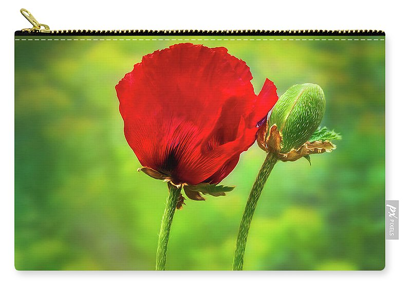 Poppy Carry-all Pouch featuring the photograph Shall We Dance? by S A Littau