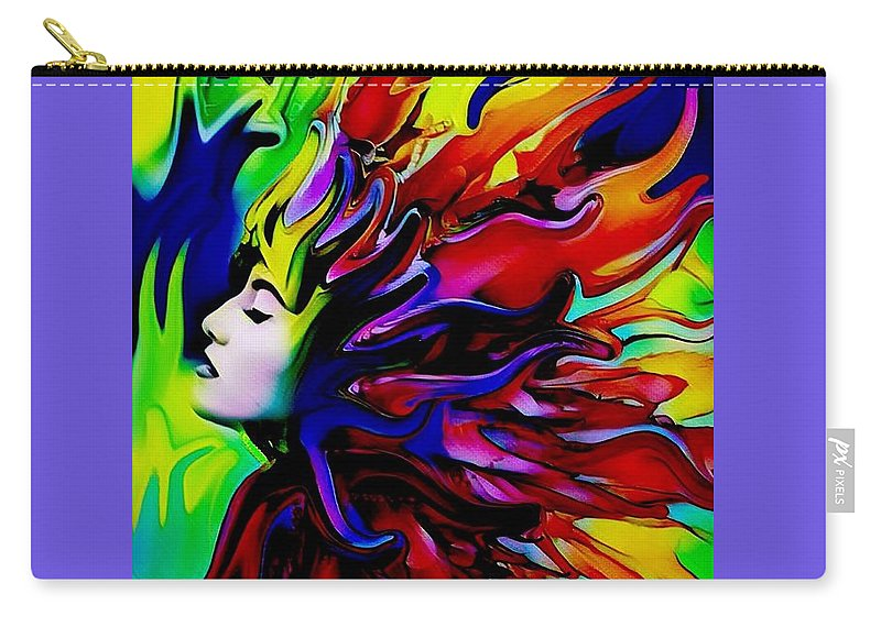 Goddess Carry-all Pouch featuring the digital art She Transcends by Diane Holman