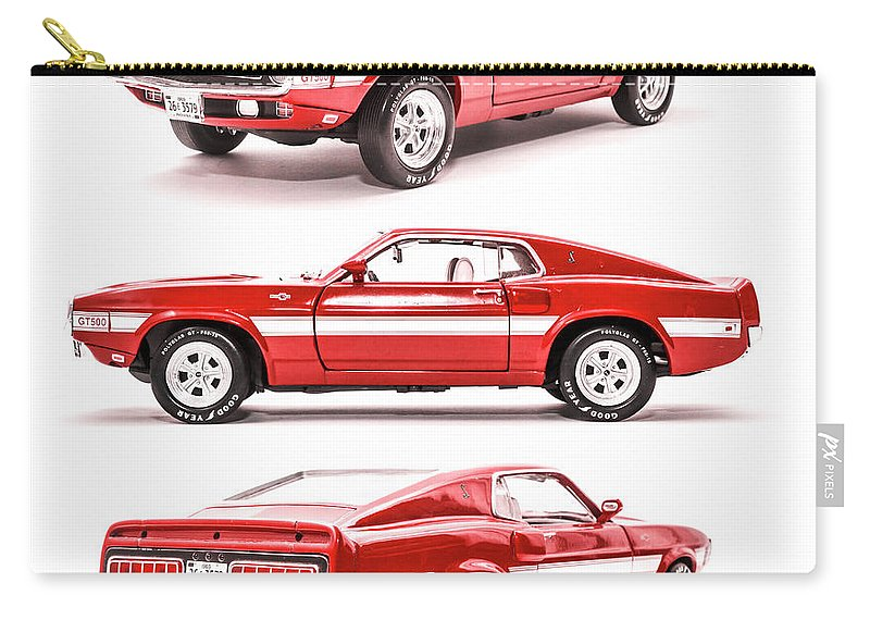 Cars Carry-all Pouch featuring the photograph Shelby Gt500 by Jorgo Photography - Wall Art Gallery