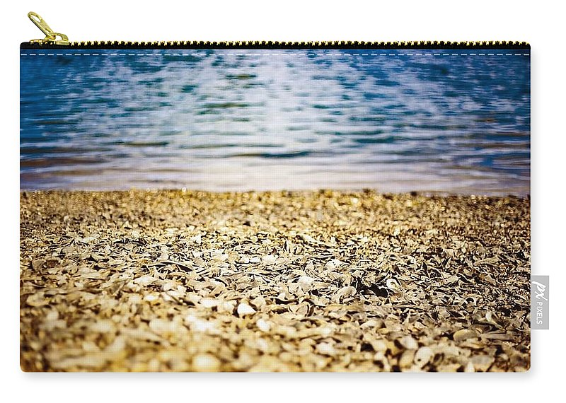 Sunset Carry-all Pouch featuring the photograph Shell Shocke by Victoria Williams