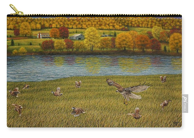 Wildlife Carry-all Pouch featuring the painting Shenandoah Valley Hawk by Charles Hill