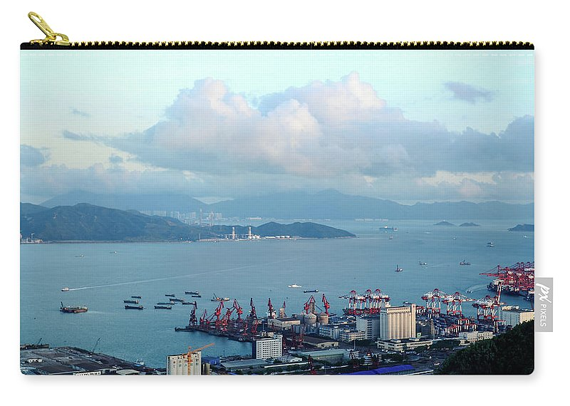Tranquility Carry-all Pouch featuring the photograph Shenzhen Bay And Shekou Port by Wilson.lau