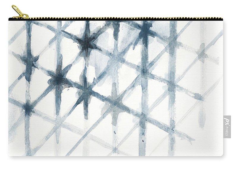 Shibori Carry-all Pouch featuring the mixed media Shibori by Patricia Pinto