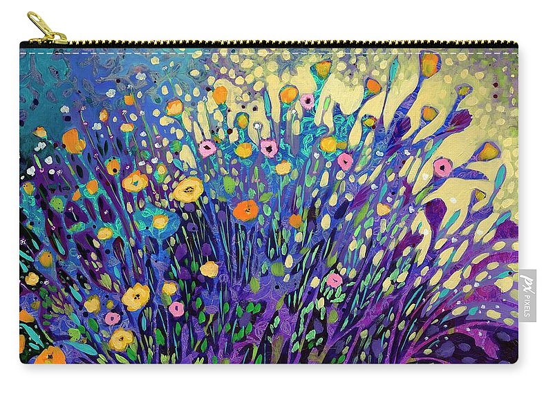 Poppy Carry-all Pouch featuring the painting Shining Light Onto My Shadows by Jennifer Lommers