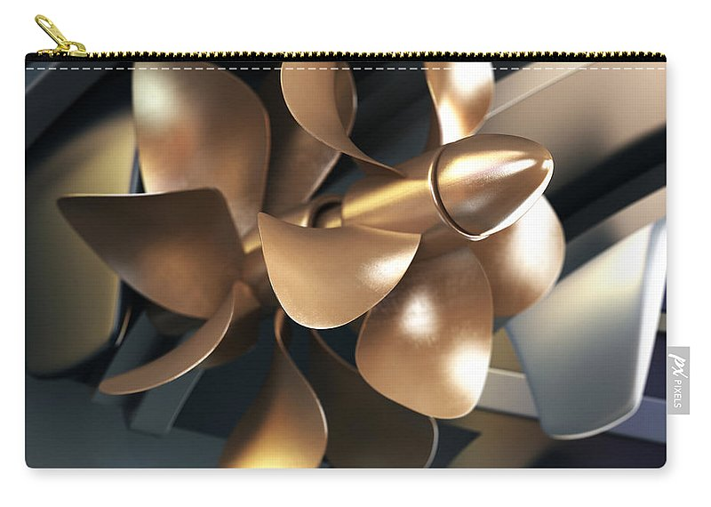 Engine Carry-all Pouch featuring the photograph Ship Propeller by Adventtr