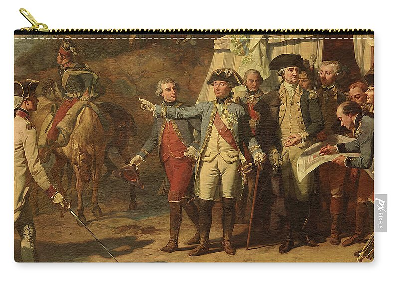 Siege Of Yorktown Carry-all Pouch featuring the painting Siege Of Yorktown by Auguste Couder