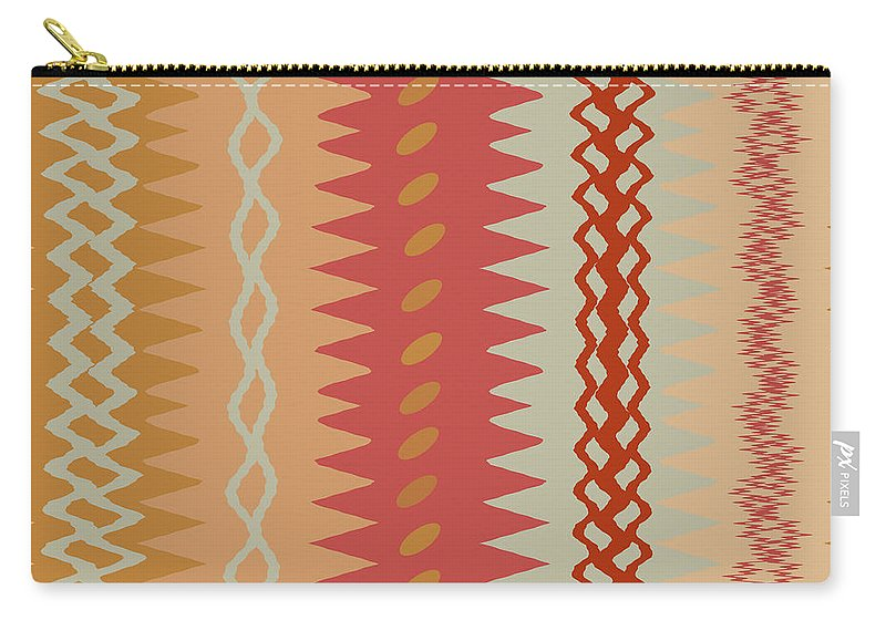 Abstract Carry-all Pouch featuring the digital art Sienna Peach Abstract by Ruth Palmer