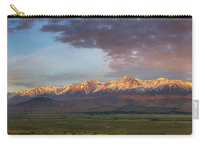 Owens Valley Carry-all Pouch featuring the photograph Sierra Nevada Mountain Range Sunrise by Michael Ver Sprill