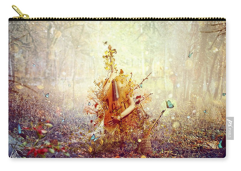 Surreal Carry-all Pouch featuring the digital art Silence by Mario Sanchez Nevado