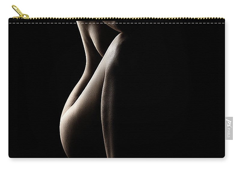 Nude Carry-all Pouch featuring the photograph Silhouette Of Nude Woman by Johan Swanepoel