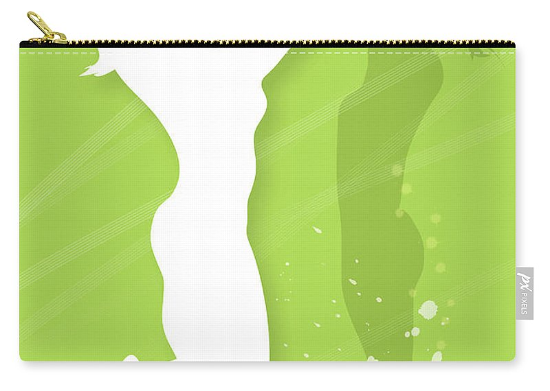 Human Arm Carry-all Pouch featuring the digital art Silhouette Of Two Women Playing by Meg Takamura