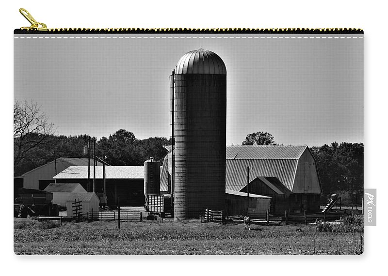 Silo Carry-all Pouch featuring the photograph Silo by Robert Lowe
