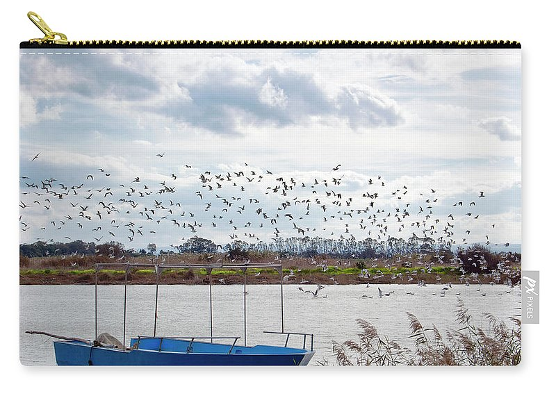 Scenics Carry-all Pouch featuring the photograph Simeto River, Catania Sicily by Francesco Cantone