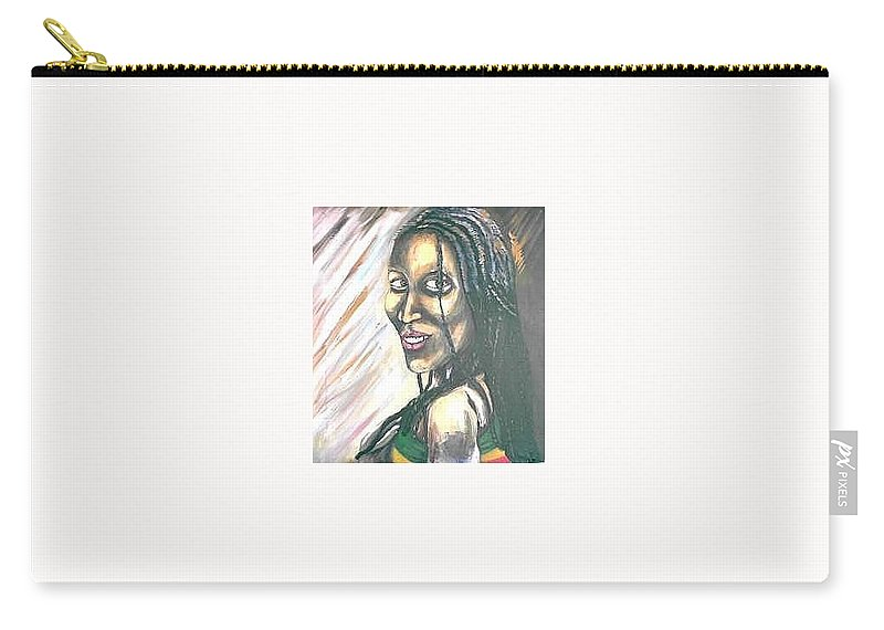 Carry-all Pouch featuring the painting Sister by Andrew Johnson