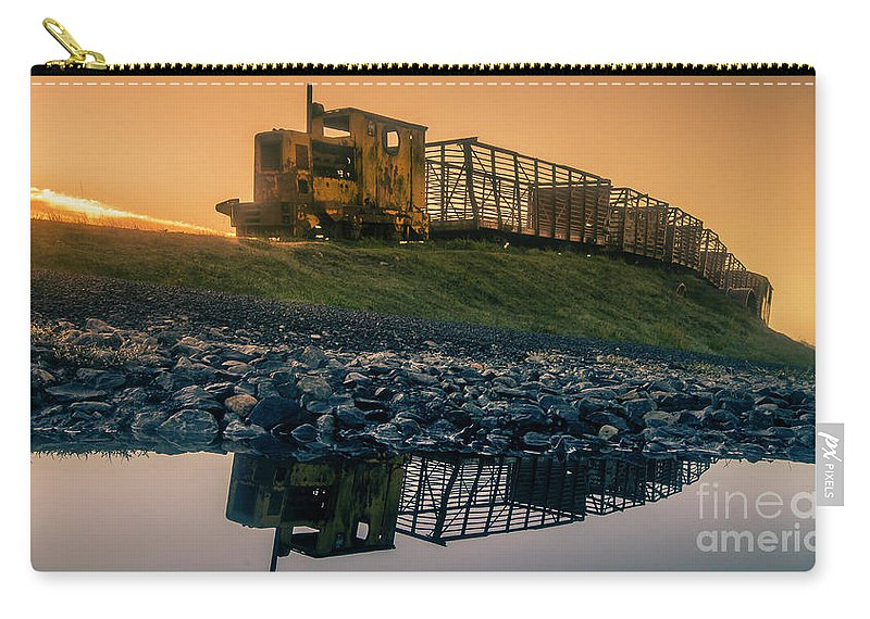 Tullamore Carry-all Pouch featuring the photograph Sky Train Reflection by Jeremy Simpson